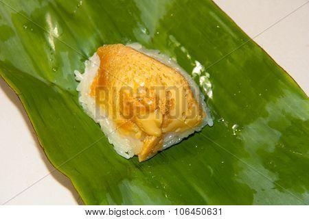 Thai Dessert, Sticky Rice With Steamed Custard