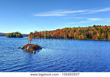 Rock Island Bay Fall Foliage, New York