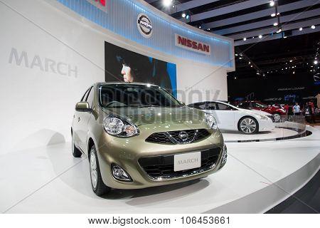 Bangkok - March 31 : The Nissan March Minor Change 2013 Car On Display At The 34Th ,Bangkok