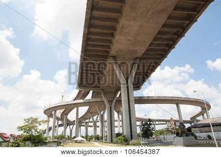 The Industrial Ring Road Bridge In Bangkok, Thailand