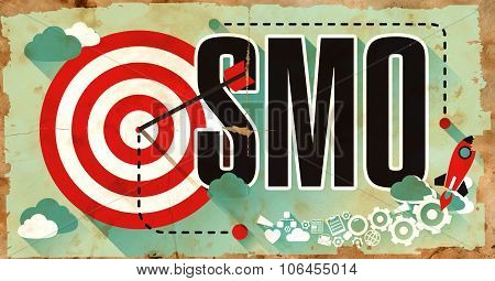 SMO Word on Grunge Poster.