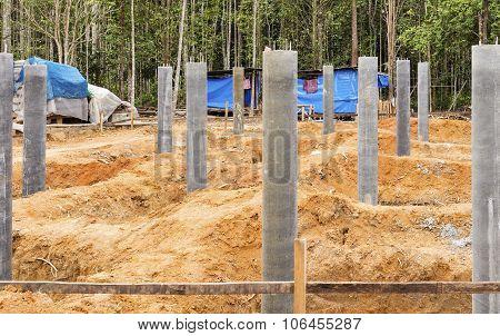 Concrete Pillar Foundation