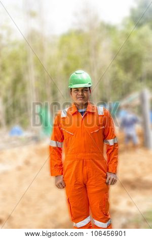 Thai Construction Site Worker