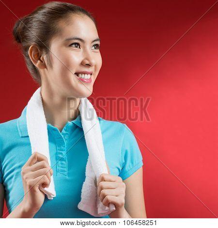 Sweating Sportswoman