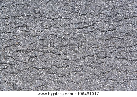Sidewalk Asphalt Road With Cracks
