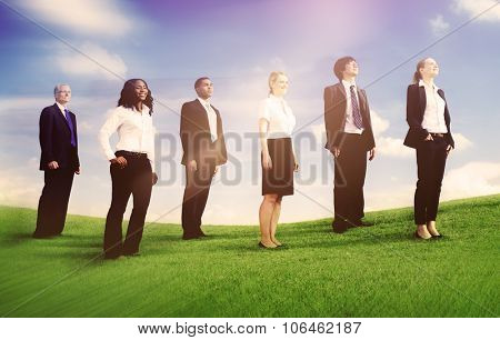 Business People Aspiration Goals Corporate Concept
