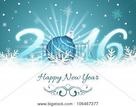 Happy New Year greeting card 2016.