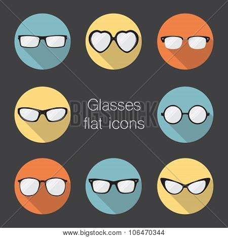 Set Of Glasses Icons