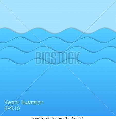 Paper Blue Waves.
