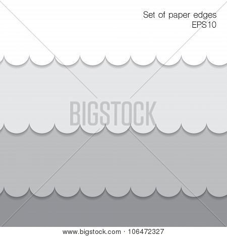 Paper Figure Edges. Vector Illustration