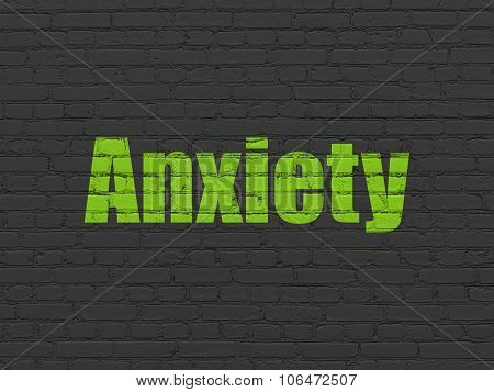 Health concept: Anxiety on wall background