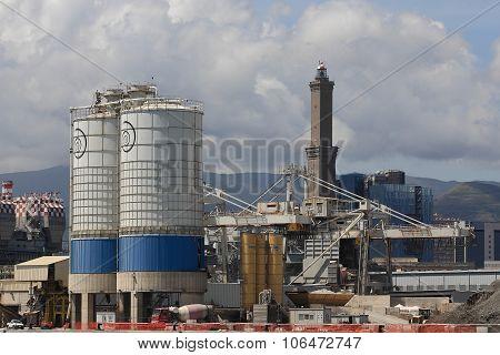 Port of Genoa: the cement silos