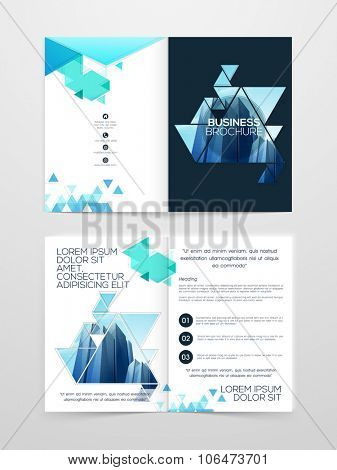 Creative two page professional brochure, template or flyer presentation for Business or Corporate Sector.