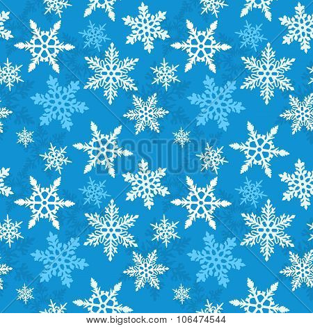 Christmas Snowflake Seamless Vector Pattern