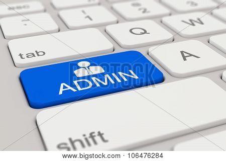 Keyboard - Admin - Blue