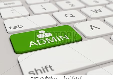 Keyboard - Admin - Green