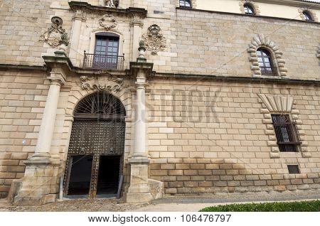 Entrance to the Hospital de Tavera, Toledo, Castilla La Mancha, Spain