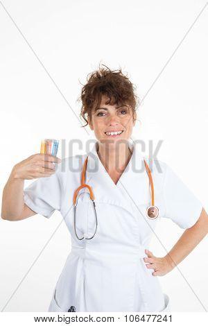 Happy Female Doctor Isolated