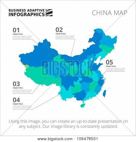 China map template