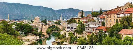 Panorama Of Mostar Old Town - Herzegovina