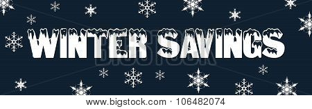Christmas winter sale deals web banner snow
