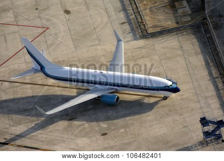 Passenger Jet Seen From Above