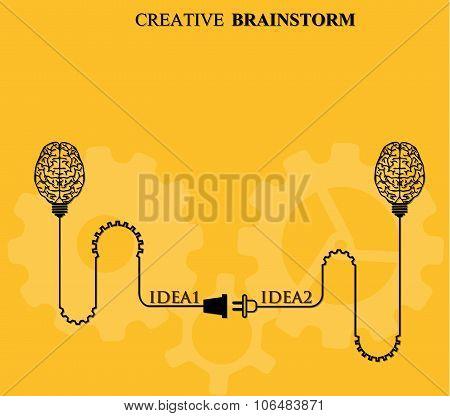 Creative brainstorm concept business