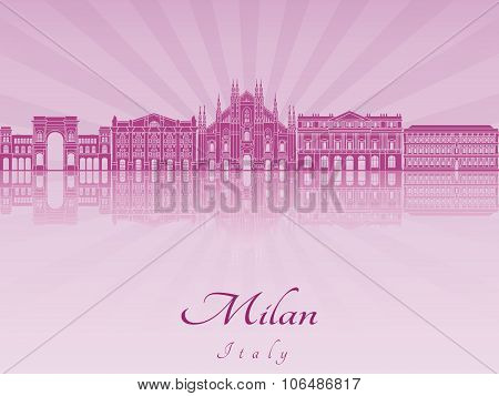 Milan Skyline In Purple Radiant Orchid