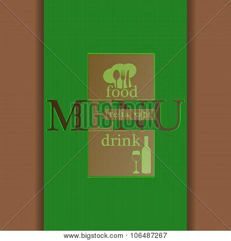 Restaurant Menu Modified Letters Green
