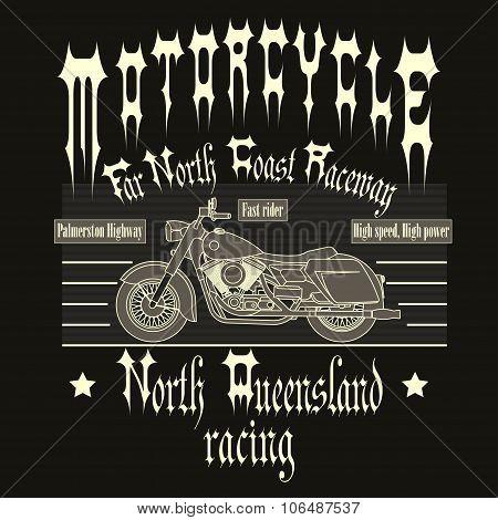 Motorcycle Racing Typography t-shirt