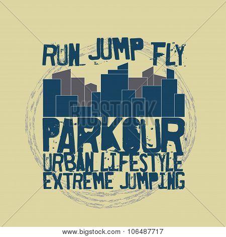 Parkour concept t-shirt