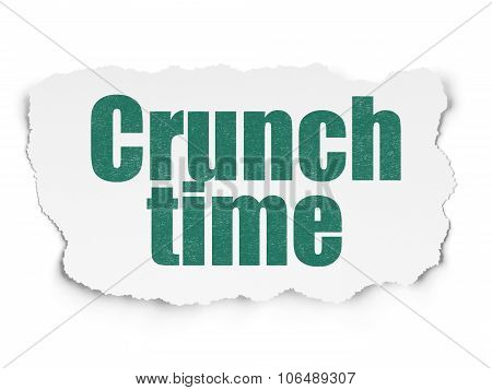 Finance concept: Crunch Time on Torn Paper background