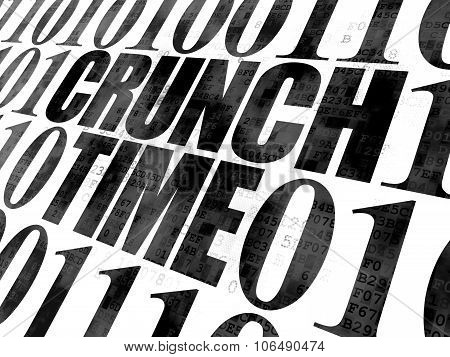 Business concept: Crunch Time on Digital background