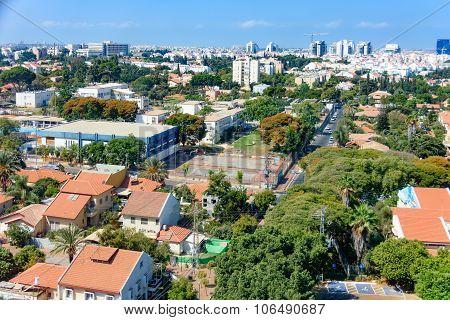 Bird's Eye View Of Tel Aviv Suburbs