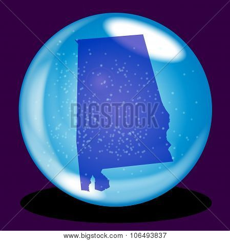 Alabama State Crystal Ball Map