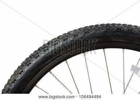 Closeup Of Bike Tire