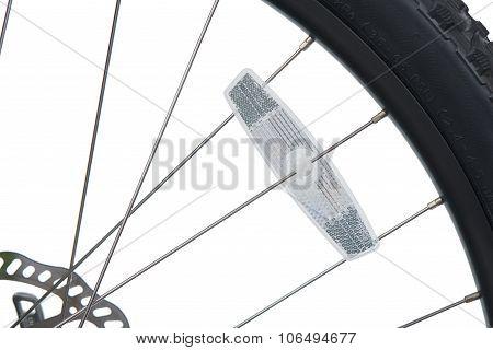 Closeup Of Bike Reflector