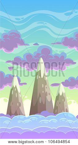 Cartoon vertical cloudscape