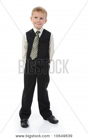 Boy in the fashionable suit