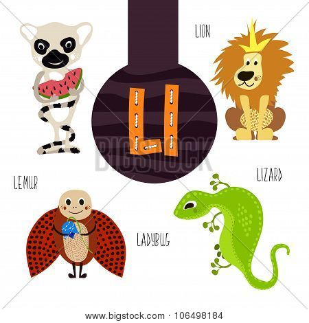 Fun Animal Letters Of The Alphabet For The Development And Learning Of Preschool Children