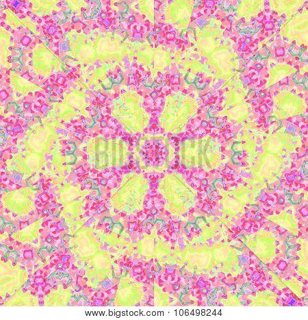 Seamless spiral pattern pink violet yellow