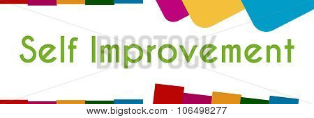 Self Improvement Colorful Abstract Shapes