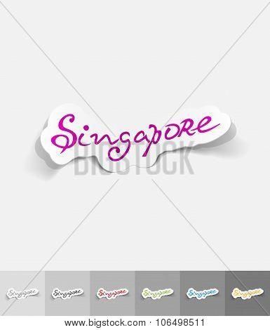 realistic design element. Singapore
