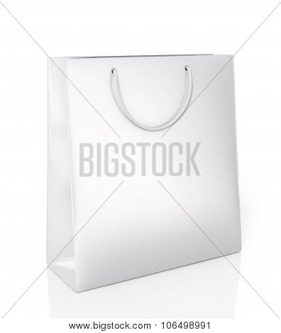 White Glossy Package On A White Background.