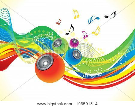 Abstract Artistic Colorful Musical Wave