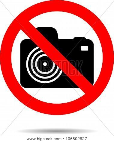 Ban Photo Icon Label