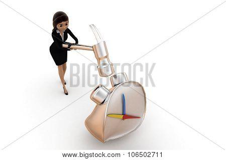Women Crushing Clock / Time Piece Concept