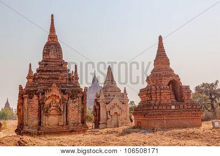 Small pagodas in Bagan