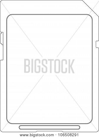 Flash card, contour image on a white background. Vector illustration