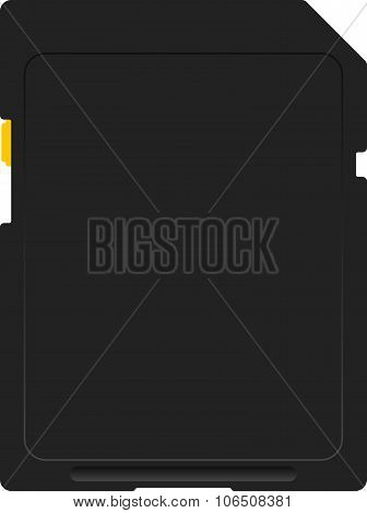 Flash card on a white background. Vector illustration